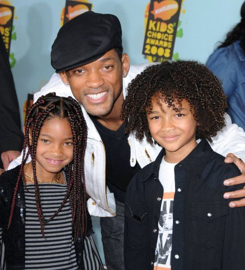 Will Smith with his kids Willow and Jaden Smith