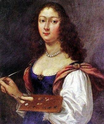 1638 Elisabetta Sirani (Italian Baroque painter, 1638-1665) Self-Portrait 1660