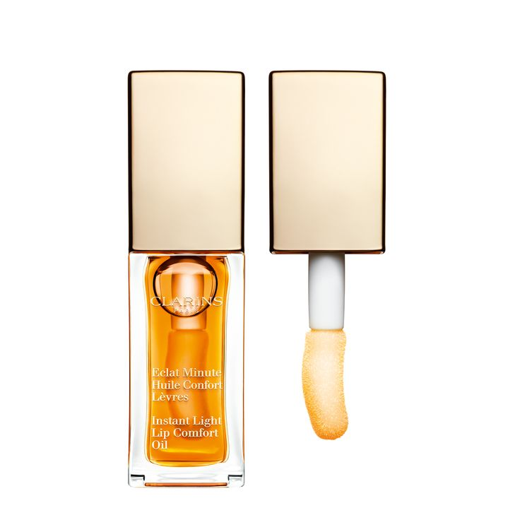 Instant Light Lip Comfort Oil - Revolutionary formula—rich in effective plant ingredients—was inspired by Clarins' best-selling Face and Body Treatment Oils.  • This gel-like non-sticky oil with sheer color nourishes and enhances lips with high shine • Soothes the senses with a delicate scent • Luxurious applicator assures comfort, pleasure and ease of use