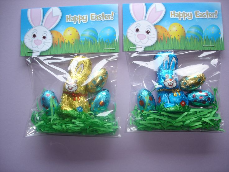 Easter Treat Bags for Grandsons classmates made using Treat Bag Topper from Studio20Designs on ETSY