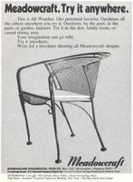 Meadowcraft Outdoor Furniture 1973 Ad Picture