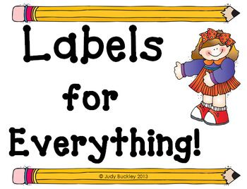 Get organized with 84 pages of colorful multi-purpose labels and signs for school ... Label classroom library book baskets, guided reading book levels,boxes for school supplies, fundraising donations, library book return, lost and found, notes, portfolios, tutor