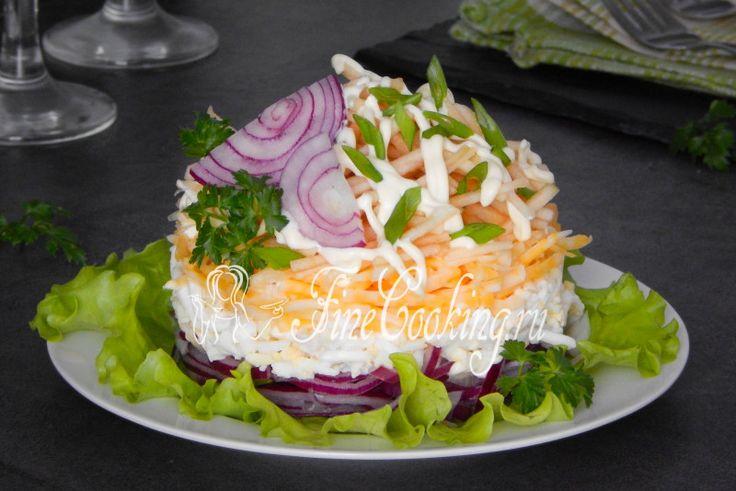 Салат Красотка - рецепт с фото