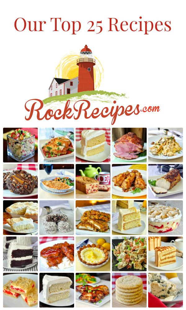 To mark the occasion of our 7th Anniversary, we are featuring our most popular recipes in this list of the Top 25 Rock Recipes out of over 1300 published to date.
