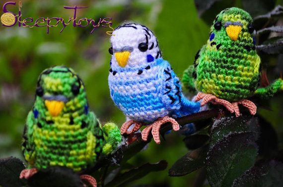 PDF Pattern  Amigurumi Budgie knitted budgerigar by SleepyToys, $4.35