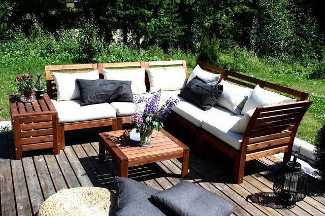 Terassilla ikea pplar terass patio idahhh for Applaro chaise lounge