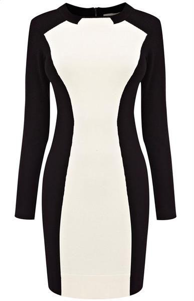 Черно белое платье футляр