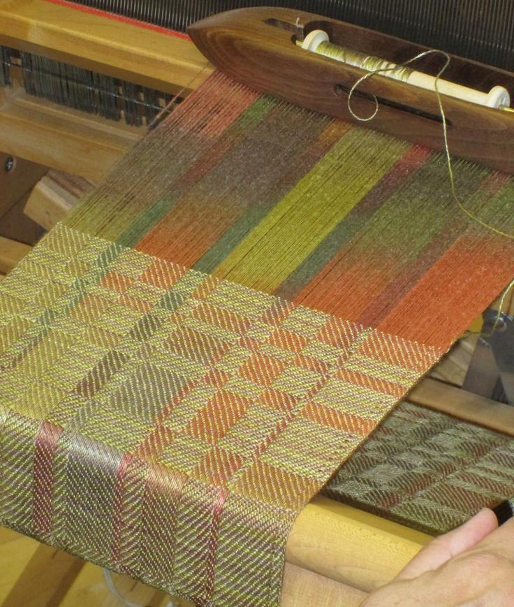 Weaving Painting Warp for Weaving Scarves - Sievers School of Fiber Arts