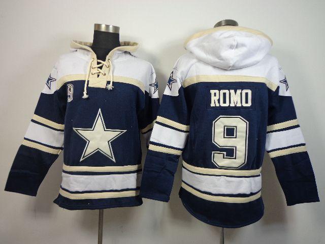 Men's NFL Dallas Cowboys ROMO Jersey #9 Hooded Sweatshirt prices USD $40.00 #cheapjerseys #sportsjerseys #popular jerseys #NFL #MLB #NBA