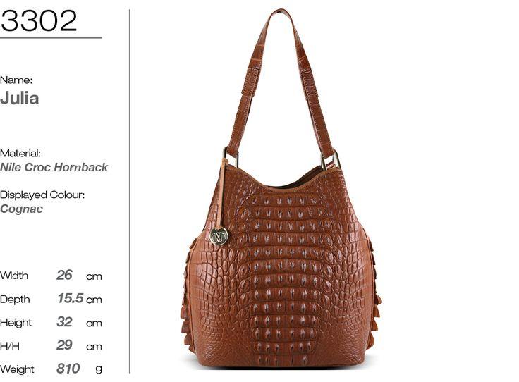 JULIA handbag in genuine crocodile