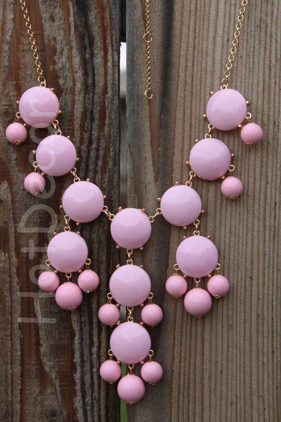 Bib Necklace pink Statement necklaces light Pink by HotDecor, $12.99