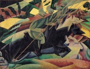 Gino Severini, Lancier italiens au galop, 1915, Olio su tela, 50 x 65 cm, © Gino Severini by SIAE 2012