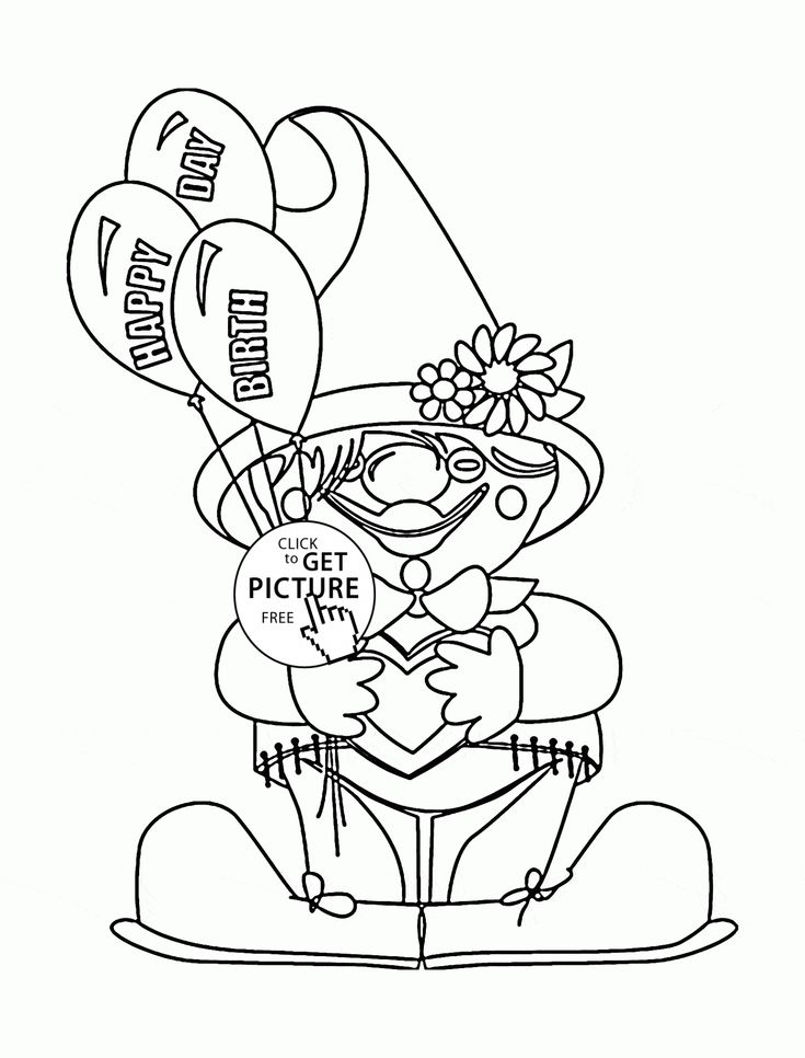 thanksgiving coloring pages funny clowns - photo#4