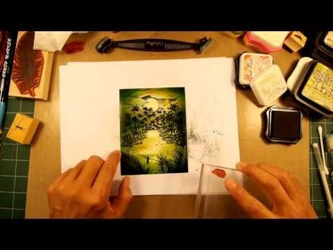 Stampscapes 101: Video 57. Calm of the Cove. - YouTube