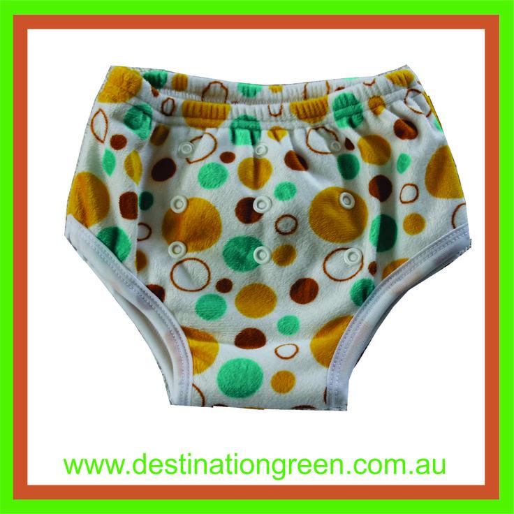 Reusable Training Pants - yellow spots, $8.50