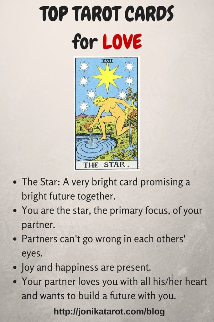 Top Tarot Cards for Love The Star