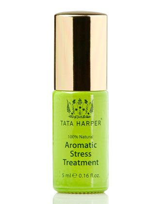 Aromatic Stress Treatment by Tata Harper. Use this uplifting treatment full of light floral and calming base notes with scents evoking relaxation and harmony. Sweet, honeyed linden blossom delights your senses promoting relaxation. The queen of essential oils, rose otto, has a delicious, tantalizing scent that helps strengthen the inner spirit.