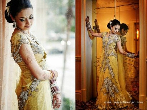 Unique Yellow Indian Reception Lehnga in Tampa, Florida - 4 - Indian Wedding Site Home - Indian Wedding Site - Indian Wedding Vendors, Clothes, Invitations, and Pictures.