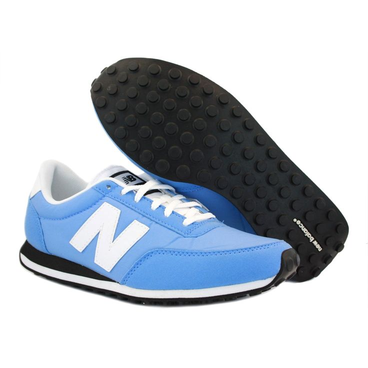 new balance 410 light blue nylon trainers