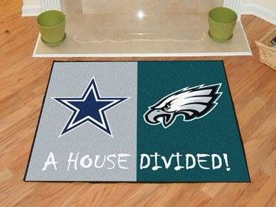 Dhurrie Rugs Fanmats nfl dallas cowboys new england patriots house divided rugs