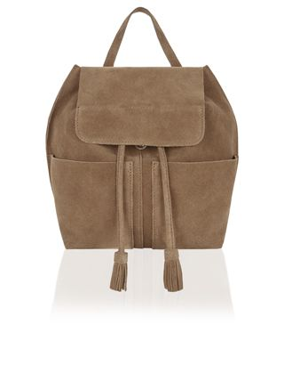 In need of a hot-right-now accessories update? We've got your back thanks to our Rosie backpack. Crafted from luxe leather, this drawstring design boasts a t...