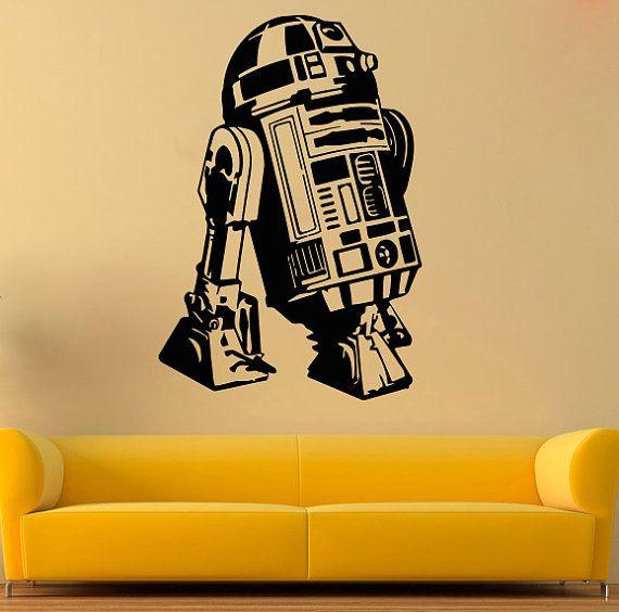R2-D2 Vinyl Decal Star Wars Wall Sticker Comics da parete in vinile di decalcomanie parete Decor /3mkl/