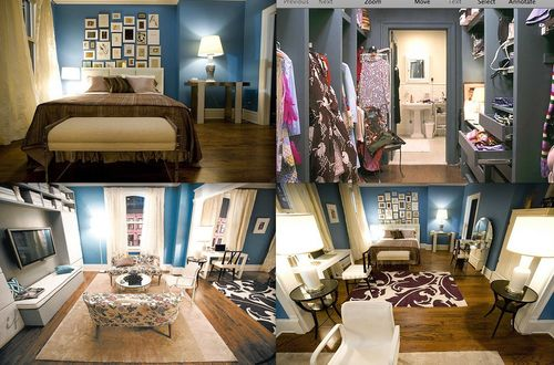sex and the city carrie bradshaw s apartment. Black Bedroom Furniture Sets. Home Design Ideas