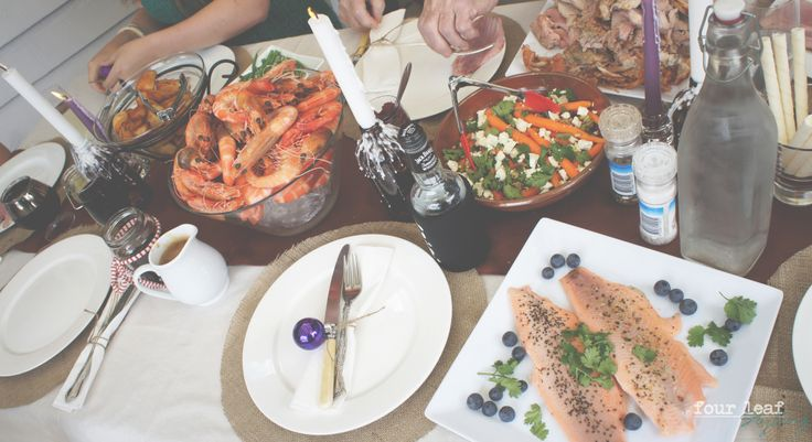 Christmas day lunch // table Styled by Four Leaf