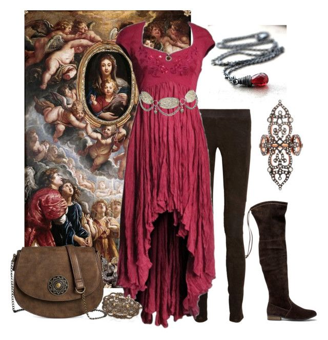 """""""Renaissance summer"""" by vesna ❤ liked on Polyvore featuring The Row, Ozbek, Sole Society, T-shirt & Jeans and Sabine Getty"""