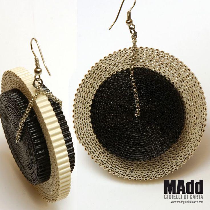 Madd Gioielli di carta: CORRUGATED PAPER earrings