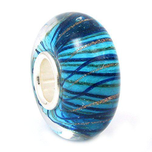 Sterling Silver Stripe Wave Blue Gold Glass Bead Charm for Pandora Chamilia Troll Biagi European Story Charm Bracelets Queenberry http://www.amazon.co.uk/dp/B007OQ9JLO/ref=cm_sw_r_pi_dp_0TTSwb1CQZDGZ