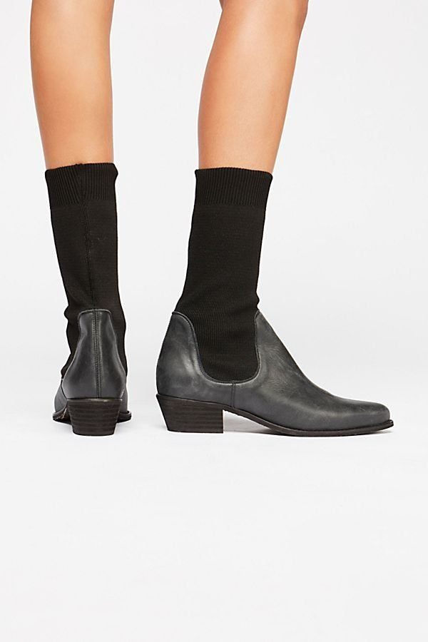 88755b6be448 Merritt Stretch Western Boot - Washed Black Chelsea Sock Boots