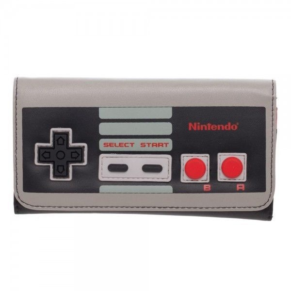 Classic Nintendo Controller Flap Wallet Retro NES System New OFFICIALLY LICENSED #Bioworld #FlapWallet