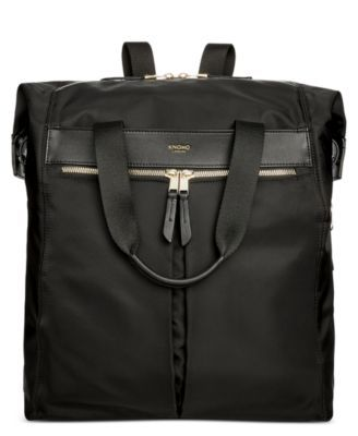 Get two stylish options for navigating your busy day with this convertible backpack from Knomo London, featuring protection for a laptop and tablet within its durable, leather-trimmed exterior. | Nylo