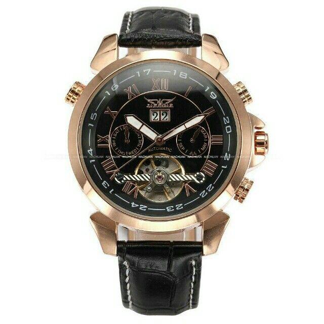 Saya menjual ESS Automatic Mechanical Watch - WM183 - Black Gold seharga Rp538.000. Dapatkan produk ini hanya di Shopee! {{product_link}} #ShopeeID