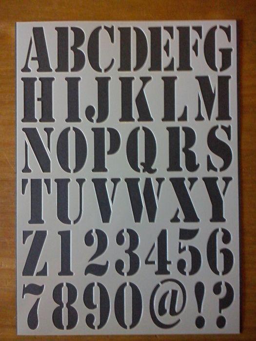 Flexibel sjabloon Letters 4,3 cm hoog te koop bij www.hetbrocantehuis.nl