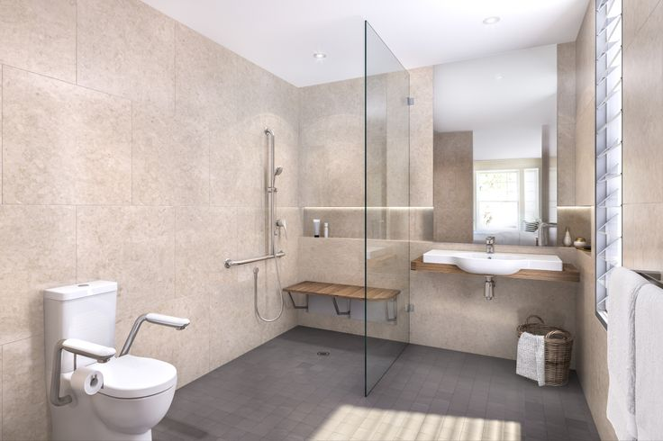 Caroma aged care bathroom commercial bathrooms pinterest Small bathroom remodel for elderly