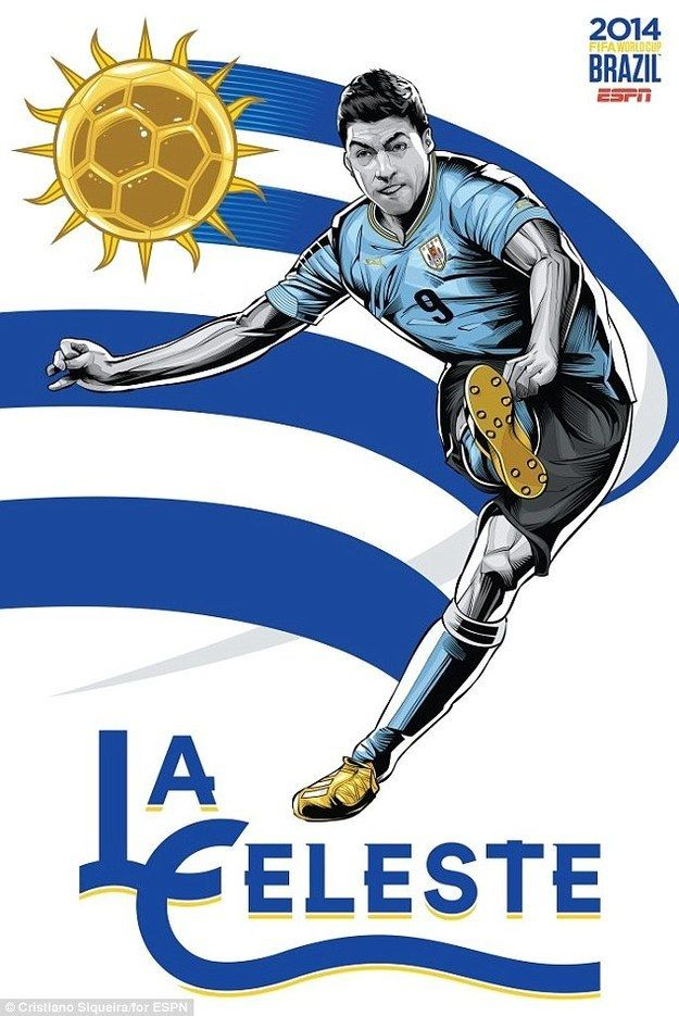13. Uruguay | Community Post: An Artist Created 32 Incredible Posters For Each Team In The FIFA World Cup