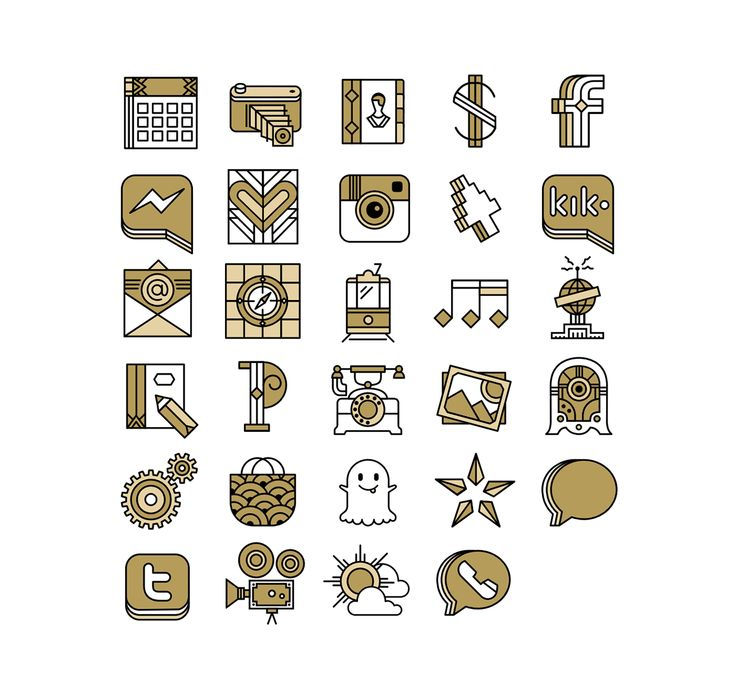Mobile Icon Sets on Behance