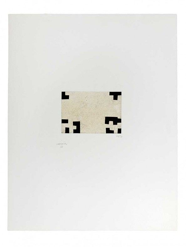 Eduardo Chillida (1924-2002), Enparantza III, 1981. Etching on Rives BFK with China paper. Plate size: 12.5cm H x 17.6cm W. Sheet size: 65.5cm H x 50cm W. Edition of 50 copies.