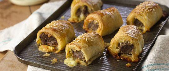 Cheesy Sausage Rolls