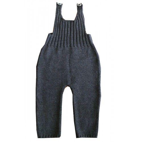 Baby Knitwear: Grey Salopette