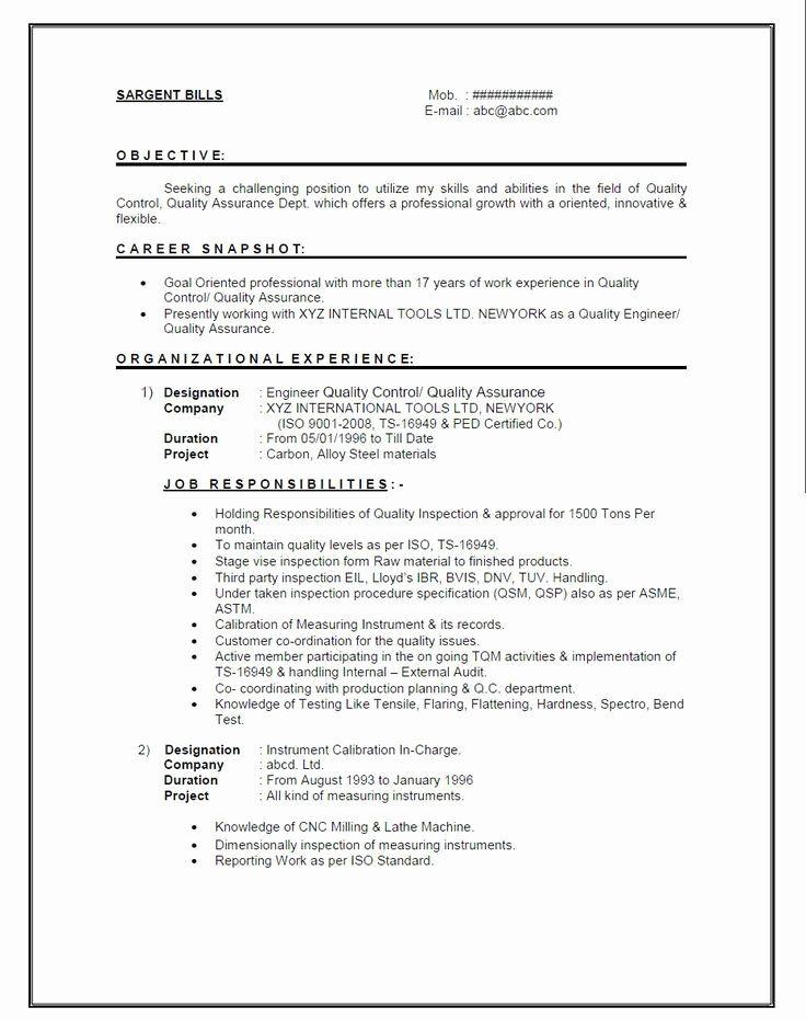 Experienced Mechanical Engineer Resume Lovely Resume Format For 1 Year Experienced Mechani In 2020 Sample Resume Cover Letter Job Resume Format Cover Letter For Resume