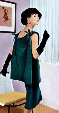Vintage Fashion and Glam, Balenciaga 1955