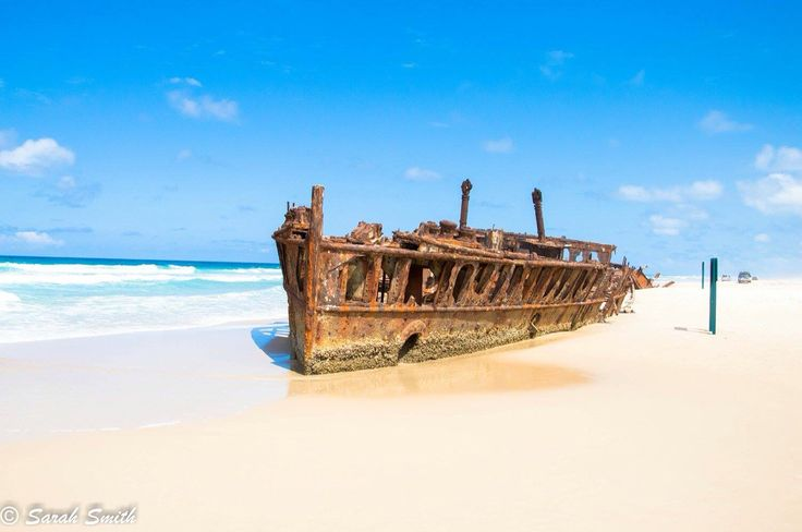 The Maheno Shipwreck, Fraser Island, Queensland, Australia #FraserIsland #Maheno