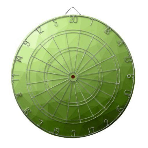 Greenery ombre gradient geometric mesh dartboard with darts by #PLdesign #greenery #geometric #modern