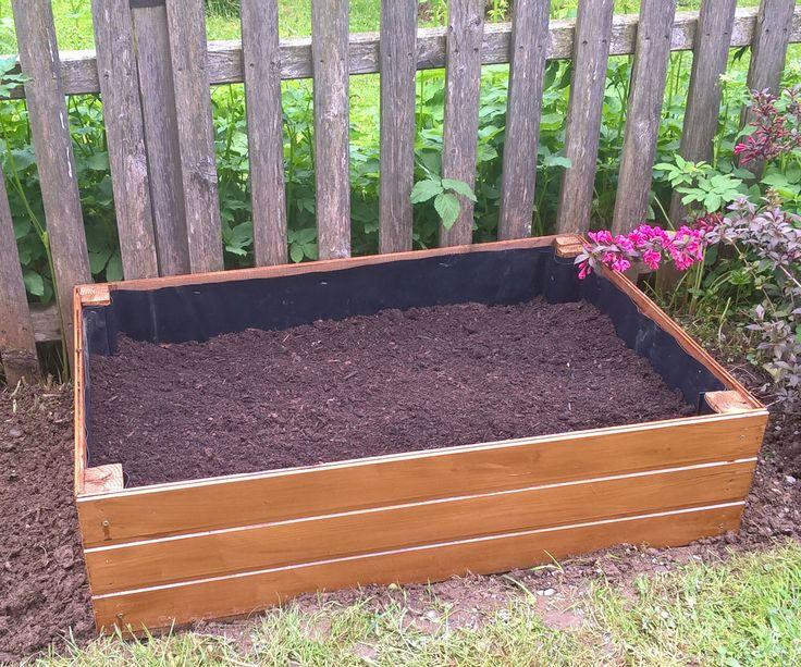 Wooden Raised Bed Garden Planter Deck Garden And