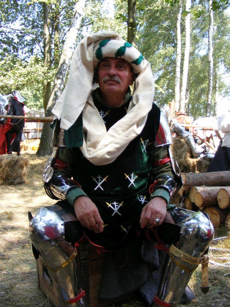 Hetman przed inscenizacją  bitwy pod Grunwaldem/ 2009r.