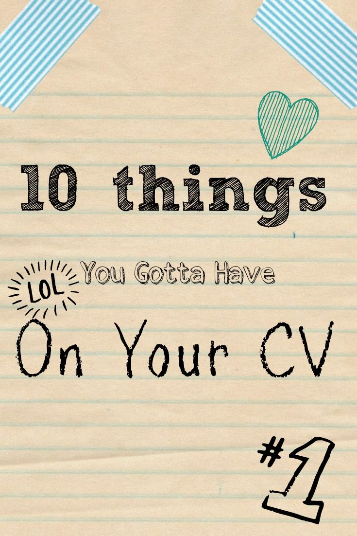 mejores ideas sobre cv builder en curr iacute culum 10 things you gotta have in your cv
