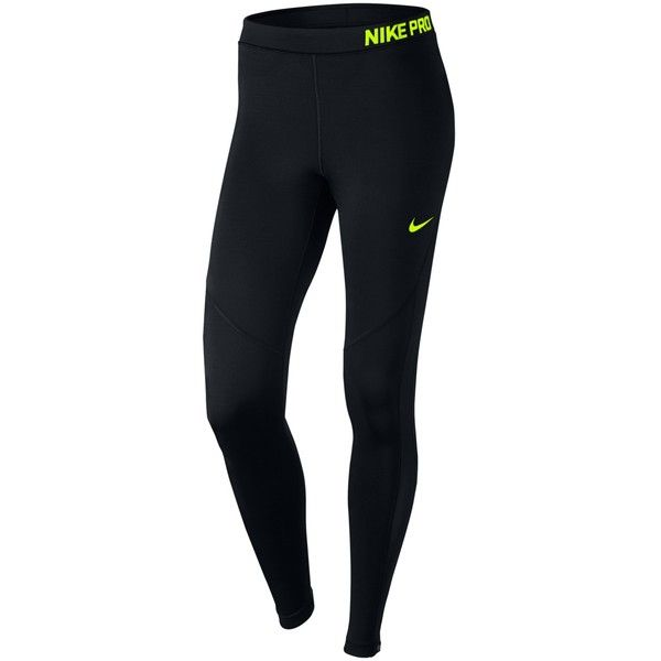 Nike Pro Hyperwarm Training Tights ($80) ❤ liked on Polyvore featuring activewear, activewear pants, black, nike sportswear, nike, nike activewear and nike activewear pants